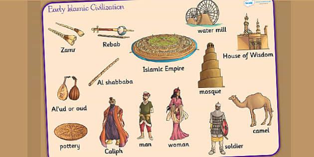 Early Islamic Civilization Word Mat - visual aid, keywords, islam