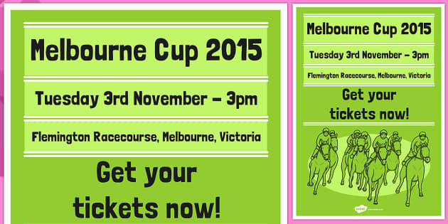 The Melbourne Cup Poster Green - australia, melbourne cup, poster, display, green