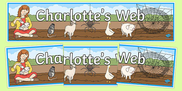 Charlotte's Web Display Banner - story book, display banner, web