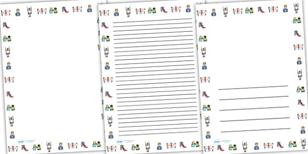 Park Full Page Borders (Portrait) - page borders, park page borders, park, park borders for page,  park borders, portrait, A4, border for page, lined pages