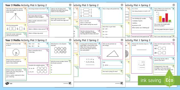Year 3 Spring 2 Maths Activity Mats - Year 3 Spring 2 Maths Activity Mats, independent maths skills, addition, multiplication, subtraction