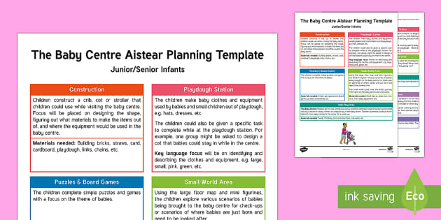 The Baby Centre Aistear Planning Template