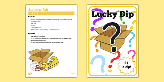 Elderly Care Summer Fair Lucky Dip - Elderly, Reminiscence, Care Homes, Summer Fair