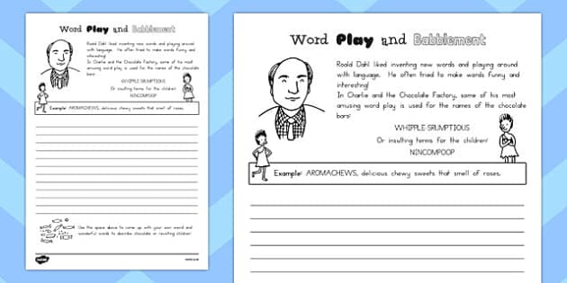 Playing with Words Activity to Support Teaching on Charlie and the Chocolate Factory - australia