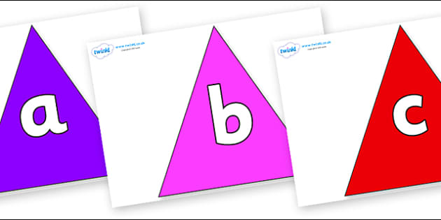 Phoneme Set on Triangles - Phoneme set, phonemes, phoneme, Letters and Sounds, DfES, display, Phase 1, Phase 2, Phase 3, Phase 5, Foundation, Literacy