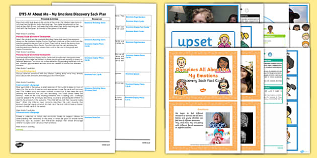 EYFS Ourselves All About Me My Emotions Discovery Sack Plan and Resource Pack - ourselves, all about me, EYFS
