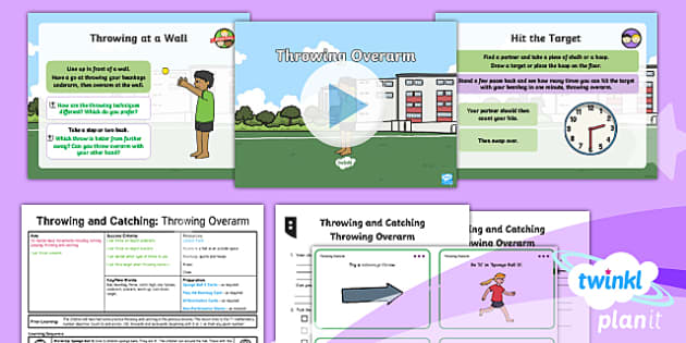 PlanIt - Year 1 PE - Throwing and Catching Lesson 5: Throwing Overarm Lesson Pack - Games Throwing and Catching, pe, physical education, games, sports, ks1, year 1, y1, ppt, powerpoint