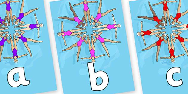 Phoneme Set on Synchronised Swimming - Phoneme set, phonemes, phoneme, Letters and Sounds, DfES, display, Phase 1, Phase 2, Phase 3, Phase 5, Foundation, Literacy