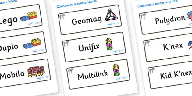 Zebra Themed Editable Construction Area Resource Labels - Themed Construction resource labels, Label template, Resource Label, Name Labels, Editable Labels, Drawer Labels, KS1 Labels, Foundation Labels, Foundation Stage Labels