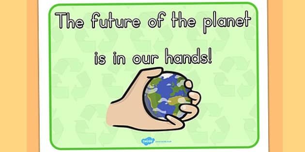 Eco And Recycling The Future of the Planet Display Poster - eco