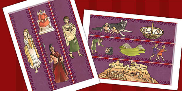 Romulus and Remus Display Borders - roman, romans, history