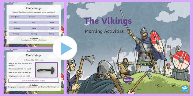1 Week Viking Topic Morning Activities LKS2 - vikings, history