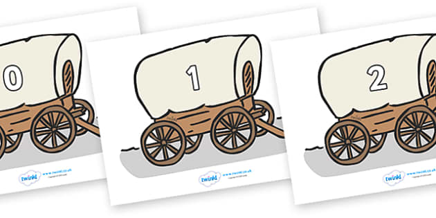 Numbers 0-50 on Wagons - 0-50, foundation stage numeracy, Number recognition, Number flashcards, counting, number frieze, Display numbers, number posters