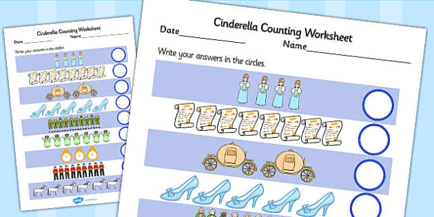 Cinderella Counting Sheet - cinderella, counting, count, sheet
