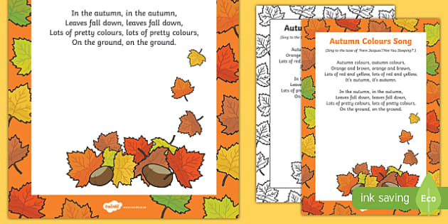 Autumn Colours Song