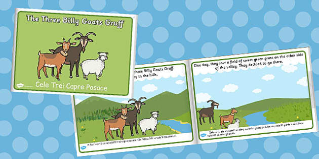 The Three Billy Goats Gruff eBook Romanian Translation - goat