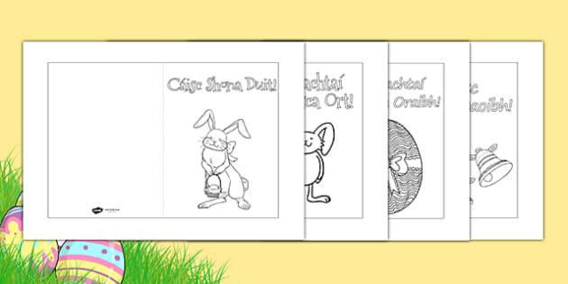 Easter Card Templates Gaeilge - Cártaí Cásca - easter, easter card, card templates, irish easter cards, gaeilge, an chaisc, cartai casca