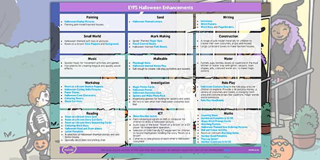 EYFS Halloween Enhancement Ideas - eyfs, halloween, enhancement, ideas