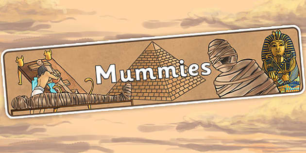 Mummies Display Banner - ancient egypt, egyptians, egypt, header