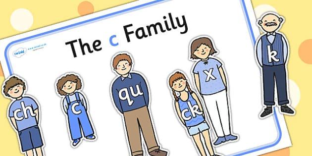 C Sound Family Cut Outs - sound families, sounds, cutouts, cut