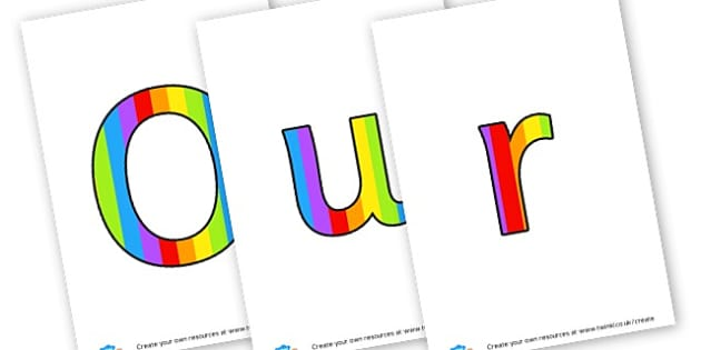 Our Wonders - Display Lettering - Display Lettering Primary Resources, cut out, letters, display