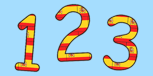 Spanish Display Numbers Flags - spanish, display, numbers, flags