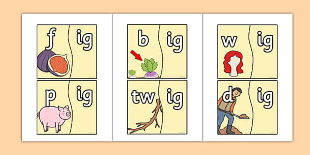 Onset and Rime ig Jigsaw - onset and rime, ig, jigsaw, onset, rime