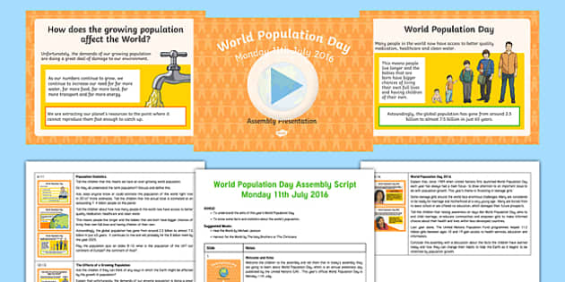 World Population Day 2016 KS2 Assembly Pack