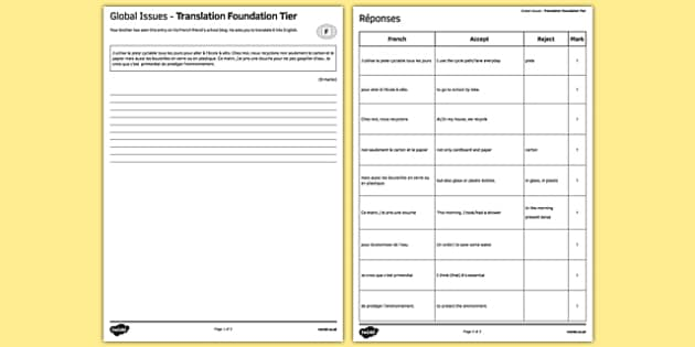 Les enjeux mondiaux Traduction Foundation Tier - french, Global issues, environment, environnement, translation, foundation, traduction