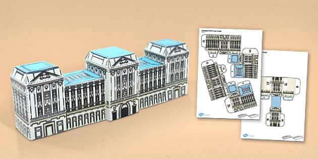 Buckingham Palace Paper Model - buckingham palace, paper, model