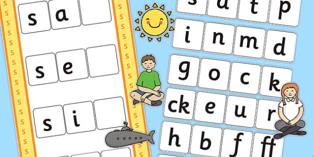 CVC s Word Activity Including Phase 2 Letters and Sounds - phases