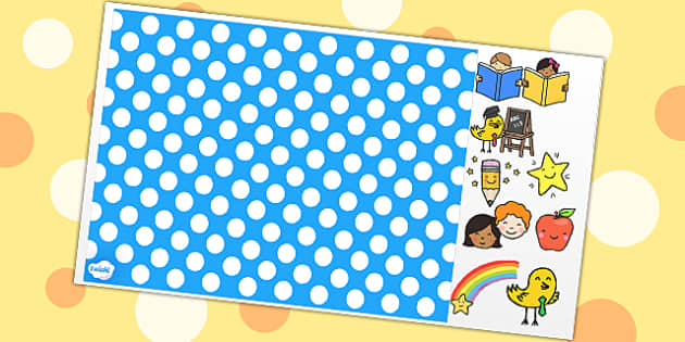 Polka Dot Themed Editable PowerPoint Background Template - polka dot, editable powerpoint, powerpoint, background template, themed powerpoint, editable