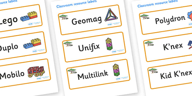 Safari Themed Editable Construction Area Resource Labels - Themed Construction resource labels, Label template, Resource Label, Name Labels, Editable Labels, Drawer Labels, KS1 Labels, Foundation Labels, Foundation Stage Labels