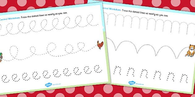 The Little Red Hen Pencil Control Sheets - Little, Red, Hen