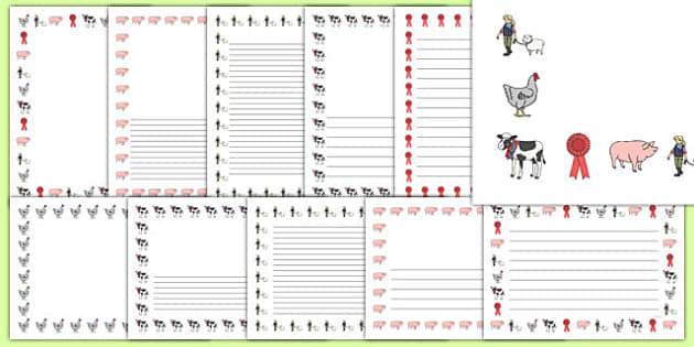Calf Club Page Border Pack