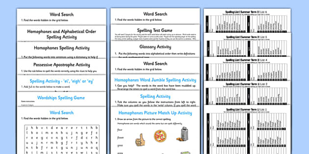 Year 4 Summer Term Spelling Lists and Resources Pack - spelling