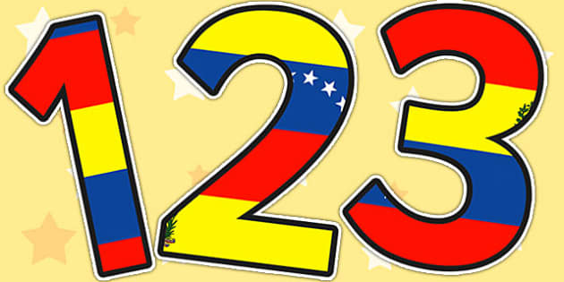 Venezuela Flag Themed A4 Display Numbers - venezuela, numbers