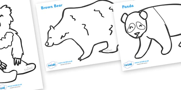 Bears Colouring Sheets - education, home school, free, fun, kids