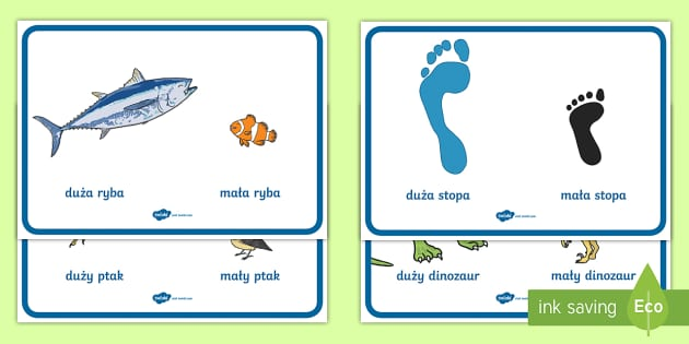 Po T2 M 036 Plakaty Porownywanie Wielkosci Maly I Duzy on Jonah And The Big Fish Story Sequencing