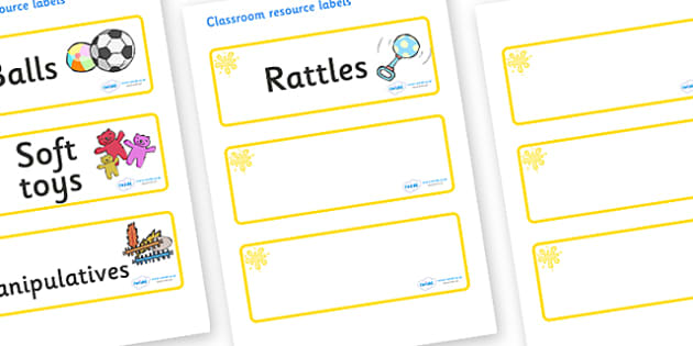 Yellow Themed Editable Additional Resource Labels - Themed Label template, Resource Label, Name Labels, Editable Labels, Drawer Labels, KS1 Labels, Foundation Labels, Foundation Stage Labels, Teaching Labels, Resource Labels, Tray Labels, Printable l