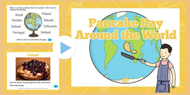 Pancake Day Around the World PowerPoint - powerpoint, power point, interactive, around the world, pancake day, pancake day powerpoint, pancake day around the world presentation, powerpoint presentation, presentation, slide show, slides, discussion ai