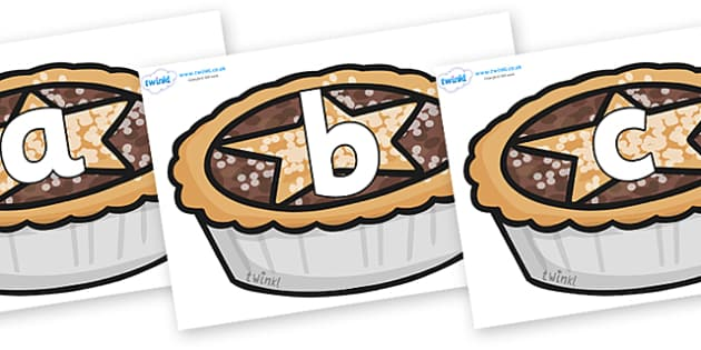Phoneme Set on Mince Pies - Phoneme set, phonemes, phoneme, Letters and Sounds, DfES, display, Phase 1, Phase 2, Phase 3, Phase 5, Foundation, Literacy