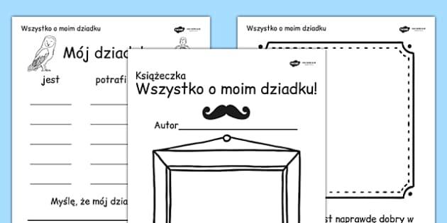 Książeczka o Moim dziadku po polsku - dzień dziadka, babci