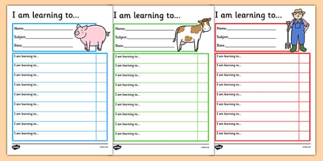 Farm Themed Target and Achievement Sheets - farm, target and achievement, target, achievement, sheets