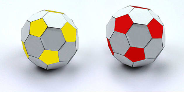 Mixed Colours Make Your Own Paper Football Net Activity - colour