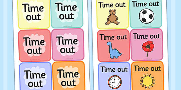 Time Out Cards -  education, home school, child development, children activities, free, kids, time out cards, time out, children behaviour, behavior children, behaviour