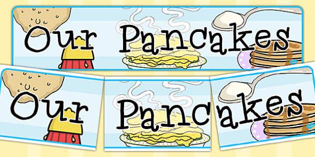 Our Pancakes Display Banner - australia, pancakes, display banner