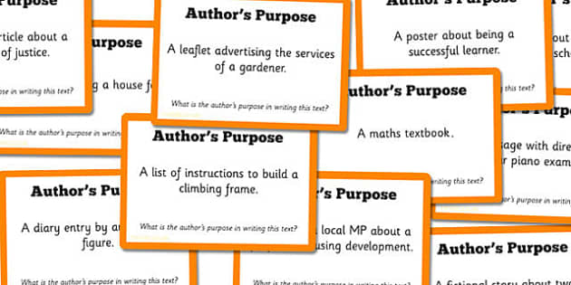 Guided Reading Skills Task Cards Author's Purpose - reading