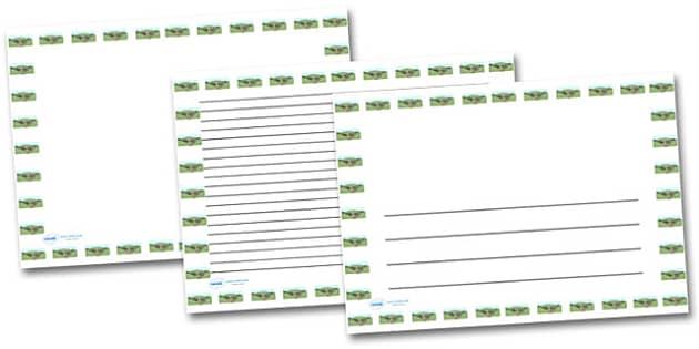 Village Landscape Page Borders- Landscape Page Borders - Page border, border, writing template, writing aid, writing frame, a4 border, template, templates, landscape