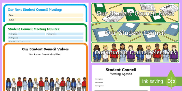 ROI Student Council Display Pack - ROI, Ireland, primary school, student council, pupil council, student governance, school management,